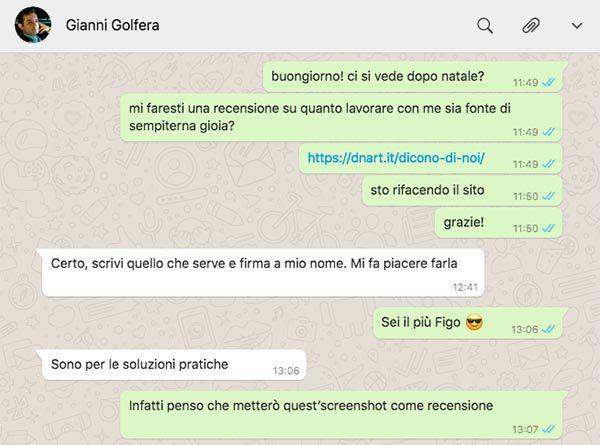 la recensione molto pratica di Gianni Golfera